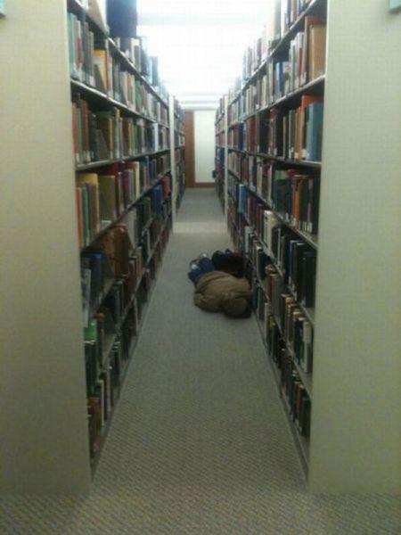 Φοιτητές που κοιμούνται στις βιβλιοθήκες (17)