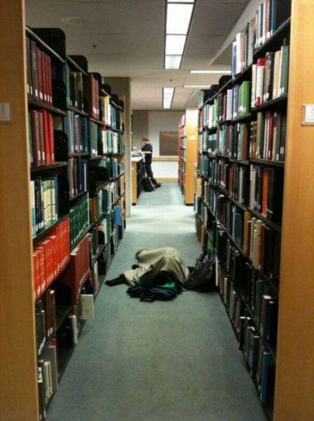 Φοιτητές που κοιμούνται στις βιβλιοθήκες (14)