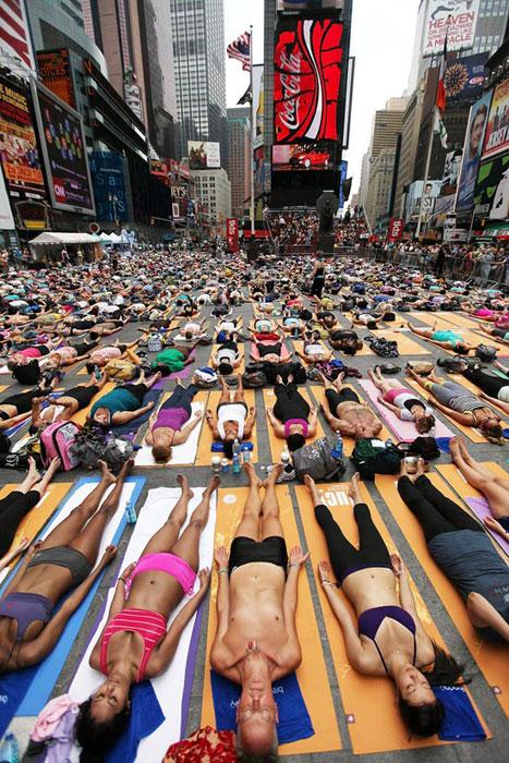 Yoga στο κέντρο της Νέας Υόρκης (5)