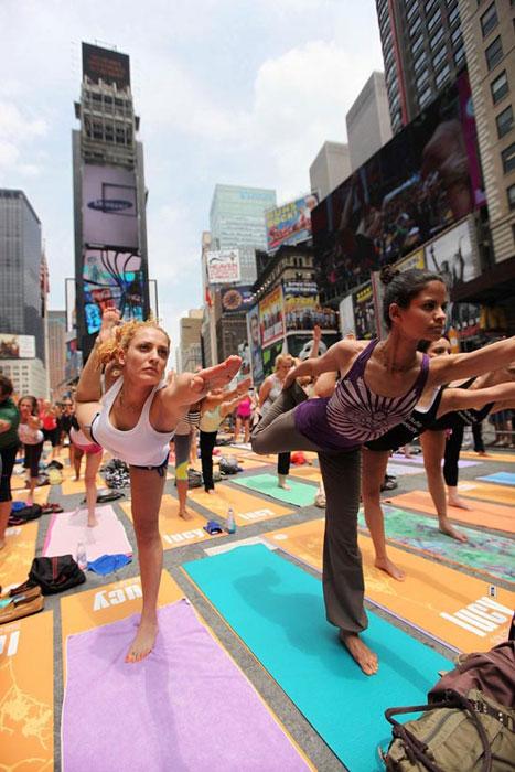 Yoga στο κέντρο της Νέας Υόρκης (4)