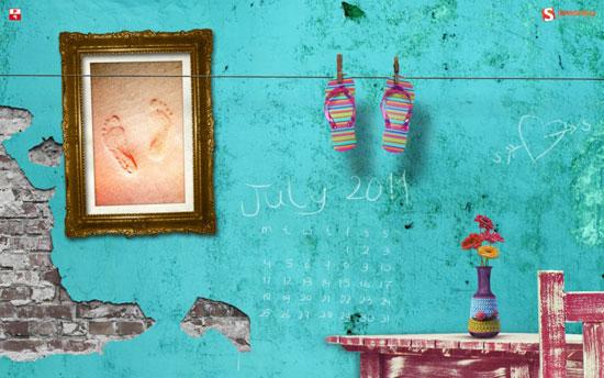 Wallpapers ημερολόγια Ιουλίου 2011 (2)