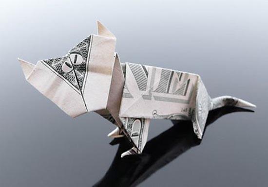 Υπέροχη τέχνη origami με χαρτονομίσματα (3)