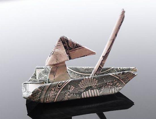 Υπέροχη τέχνη origami με χαρτονομίσματα (6)