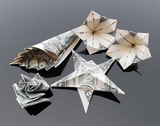 Υπέροχη τέχνη origami με χαρτονομίσματα (9)