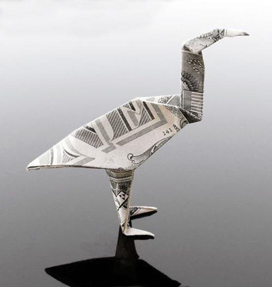 Υπέροχη τέχνη origami με χαρτονομίσματα (10)