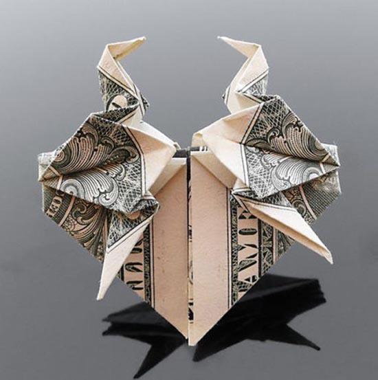 Υπέροχη τέχνη origami με χαρτονομίσματα (12)