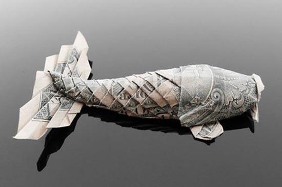 Υπέροχη τέχνη origami με χαρτονομίσματα (13)