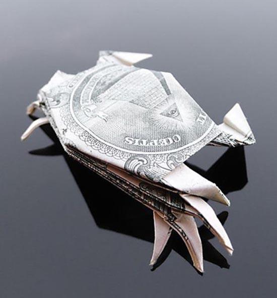 Υπέροχη τέχνη origami με χαρτονομίσματα (14)