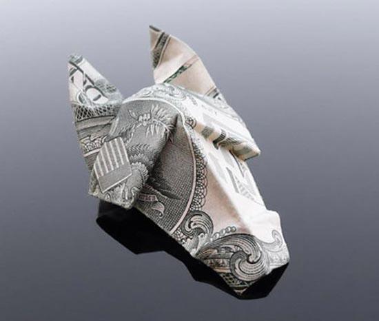 Υπέροχη τέχνη origami με χαρτονομίσματα (15)