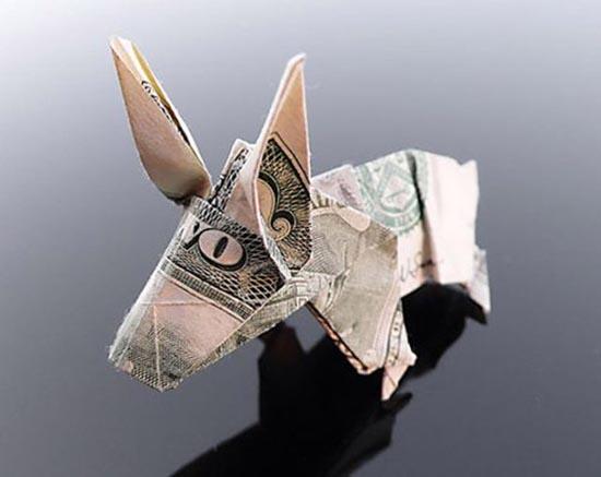 Υπέροχη τέχνη origami με χαρτονομίσματα (22)