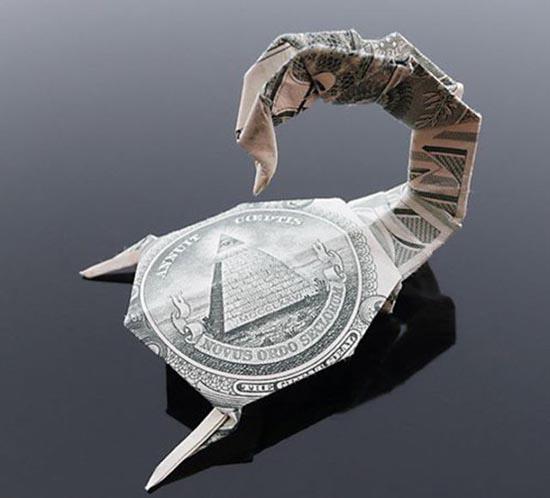 Υπέροχη τέχνη origami με χαρτονομίσματα (23)
