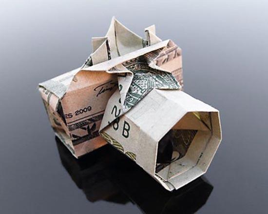 Υπέροχη τέχνη origami με χαρτονομίσματα (25)