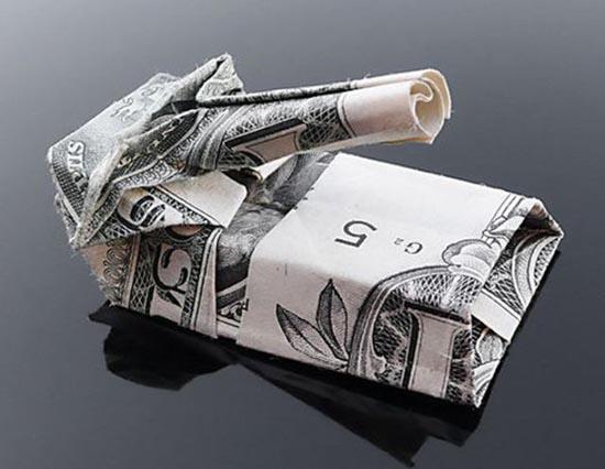 Υπέροχη τέχνη origami με χαρτονομίσματα (26)