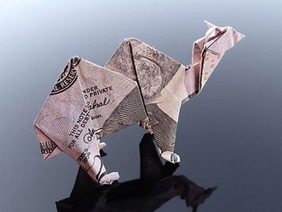 Υπέροχη τέχνη origami με χαρτονομίσματα (28)