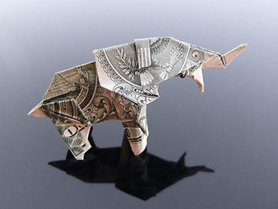 Υπέροχη τέχνη origami με χαρτονομίσματα (29)