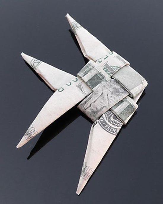 Υπέροχη τέχνη origami με χαρτονομίσματα (31)