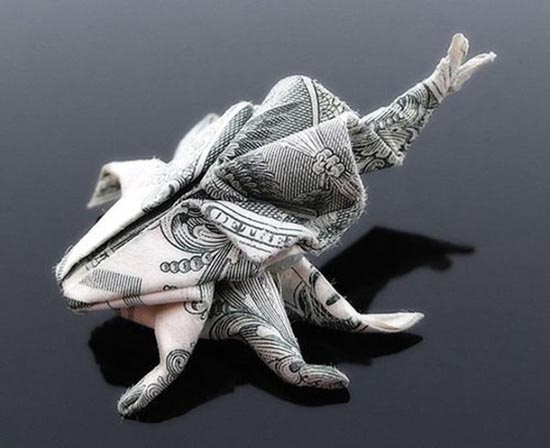 Υπέροχη τέχνη origami με χαρτονομίσματα (33)