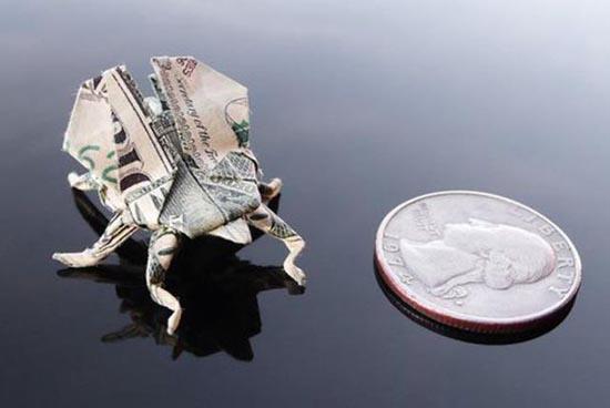 Υπέροχη τέχνη origami με χαρτονομίσματα (34)