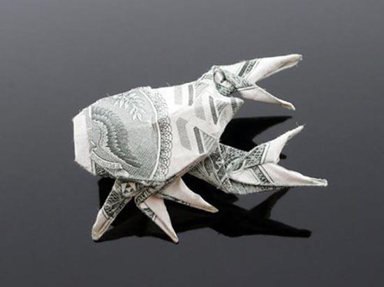 Υπέροχη τέχνη origami με χαρτονομίσματα (35)