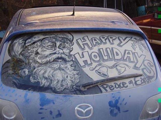 Απίστευτη τέχνη σε σκονισμένα τζάμια αυτοκινήτων (2)
