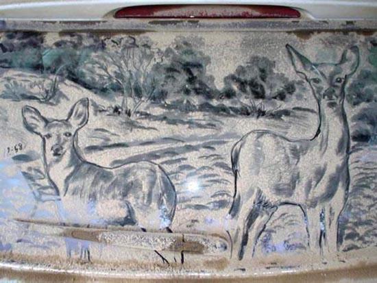 Απίστευτη τέχνη σε σκονισμένα τζάμια αυτοκινήτων (5)