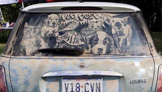 Απίστευτη τέχνη σε σκονισμένα τζάμια αυτοκινήτων (6)