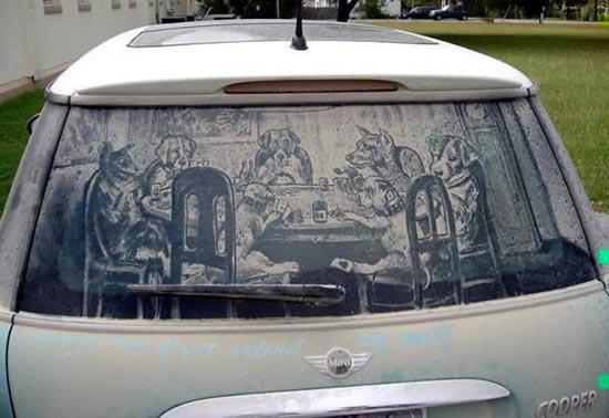 Απίστευτη τέχνη σε σκονισμένα τζάμια αυτοκινήτων (7)