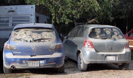 Απίστευτη τέχνη σε σκονισμένα τζάμια αυτοκινήτων (11)