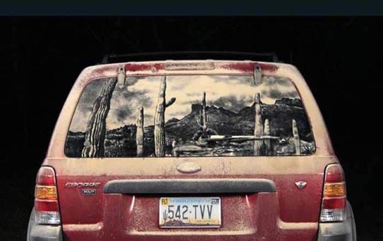 Απίστευτη τέχνη σε σκονισμένα τζάμια αυτοκινήτων (13)