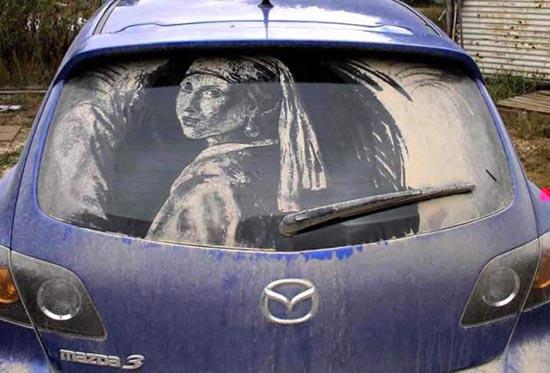 Απίστευτη τέχνη σε σκονισμένα τζάμια αυτοκινήτων (15)