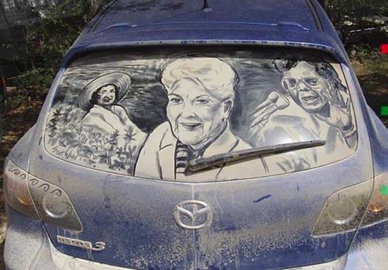 Απίστευτη τέχνη σε σκονισμένα τζάμια αυτοκινήτων (18)