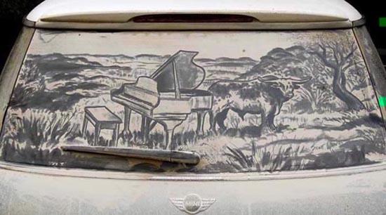 Απίστευτη τέχνη σε σκονισμένα τζάμια αυτοκινήτων (19)