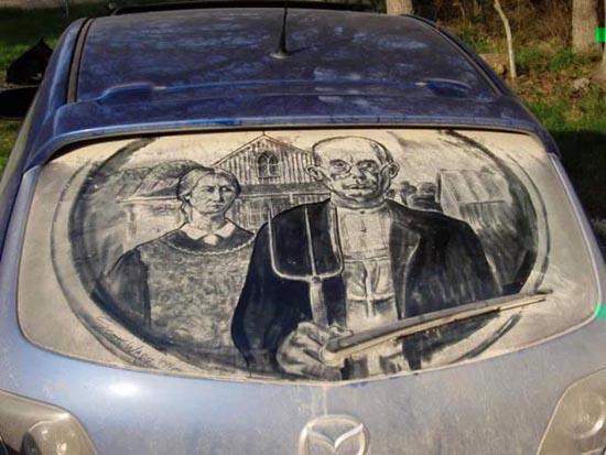 Απίστευτη τέχνη σε σκονισμένα τζάμια αυτοκινήτων (20)