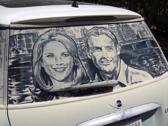 Απίστευτη τέχνη σε σκονισμένα τζάμια αυτοκινήτων (22)