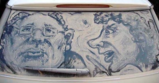 Απίστευτη τέχνη σε σκονισμένα τζάμια αυτοκινήτων (24)