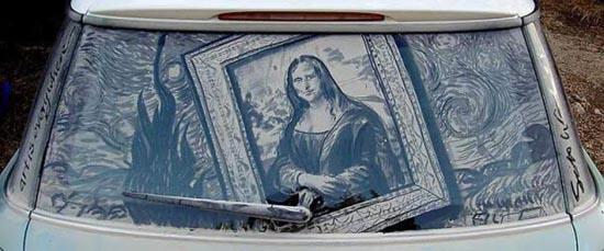 Απίστευτη τέχνη σε σκονισμένα τζάμια αυτοκινήτων (26)