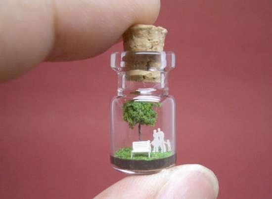 Γλυπτά μινιατούρες σε μικροσκοπικά μπουκάλια (4)