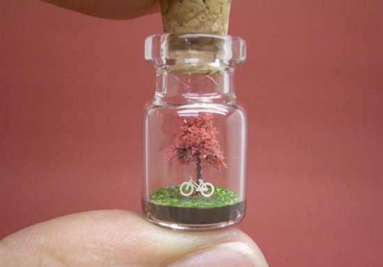 Γλυπτά μινιατούρες σε μικροσκοπικά μπουκάλια (7)