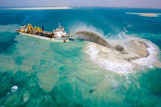 Πως κατασκευάζονται τα τεχνητά νησιά στο Dubai; (3)