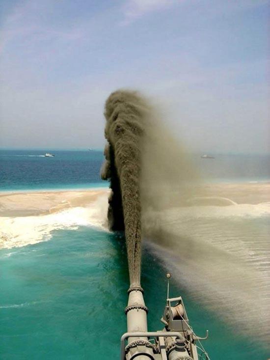 Πως κατασκευάζονται τα τεχνητά νησιά στο Dubai; (2)