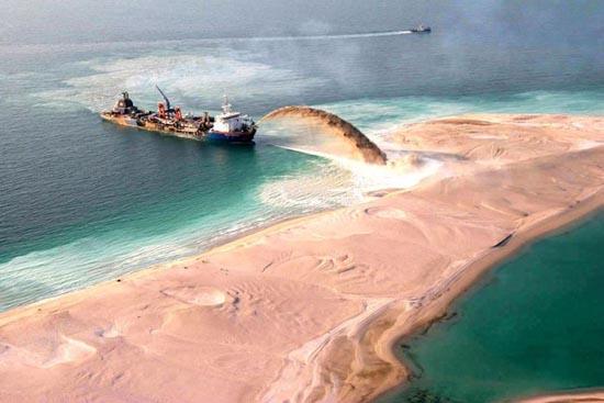 Πως κατασκευάζονται τα τεχνητά νησιά στο   Dubai; (7)