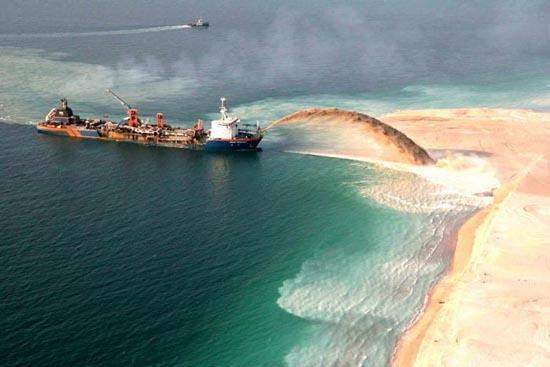 Πως κατασκευάζονται τα τεχνητά νησιά στο Dubai; (6)