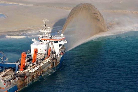 Πως κατασκευάζονται τα τεχνητά νησιά στο   Dubai; (4)