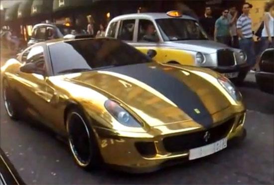 Χρυσή Ferrari 599 GTB