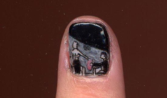 Ασυνήθιστα σχέδια σε νύχια (5)