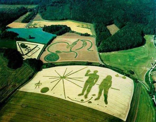 Διαφημίσεις με την μορφή αγρογλυφικών (3)