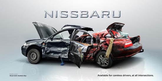 Nissbaru- Volksubishi: Έξυπνες διαφημίσεις για την οδική ασφάλεια (3)