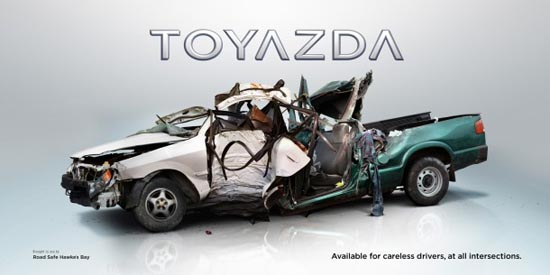 Nissbaru- Volksubishi: Έξυπνες διαφημίσεις για την οδική ασφάλεια (2)