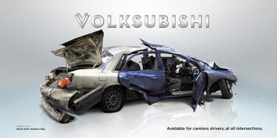 Nissbaru- Volksubishi: Έξυπνες διαφημίσεις για την οδική ασφάλεια (1)