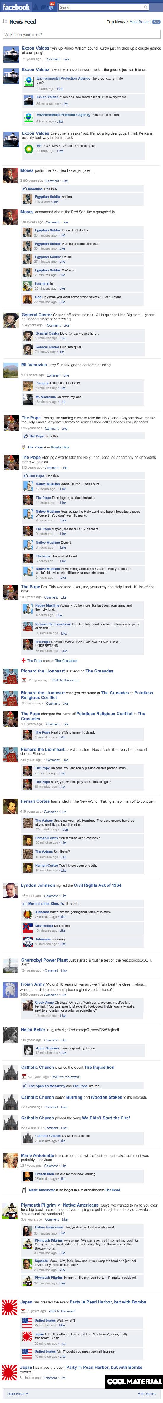 Αν τα ιστορικά γεγονότα είχαν status στο Facebook (2)